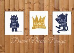 Up on my blog now. Check out these adorable prints designed for a client from instagram! Where the wild things are themed nursery decor.