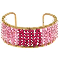 DIY Jewelry Tutorial - How to: Ombre Wire Wrapped Beaded Cuff Swarovski wirewrapping| Beadaholique