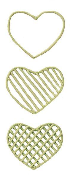 How to create a Buttercream Lattice Heart