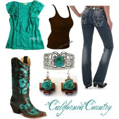 Turquoise-4, created by californiacountry on Polyvore