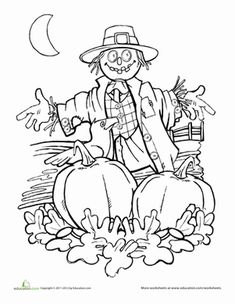 Autumn, scarecrows and pumpkin patches
