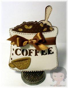 Love this card, she used Love You a Latte #cricut cartridge
