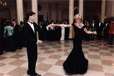 John Travolta dancing with Princess Diana. Beautiful!