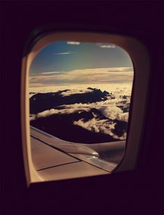 clouds, sky, window view, airplanes, resort