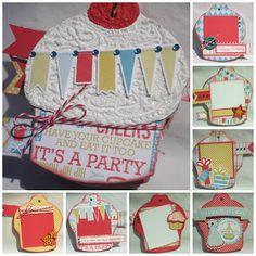 The Rubber Cafe Design Team Blog: Birthday Cupcake Mini Album