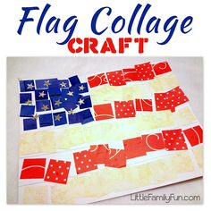 Easy & cute American flag craft for 4th of July! Fun craft for kids, preschoolers, toddlers.