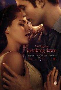 Twilight (Gag me) Breaking Dawn, Part One, November 2011, Part Two November 2012. Bella pregnant with a creepy vampire baby thats killing her from the inside? I'd rather pass. But even though I cannot stand these movies, I will still go see them because I am to weak too deny their strange lure.