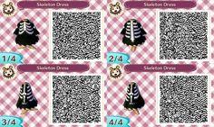 Skeleton dress #Halloween #acnl #AnimalCrossing #NewLeaf #Nintendo #3DS