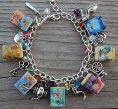 Disney Princess bracelet, the girls and charms that represent them/their story