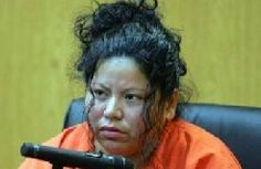 In Texas in 2003 Angela Camacho and her common law husband murdered her 3 year old, 1 year old and 2 month old baby.   The children were also decapitated.   Camacho claimed they were evil possessed.  A relative called police after finding two children in the trash and one in the house.  Evidence found that before the last child was decapitated the couple took a break to have sex.   An illegal alien, if ever released she would face deportation proceedings.