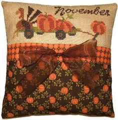 November Bounty - Pine Mountain Designs - Thanksgiving cross stitch patterns