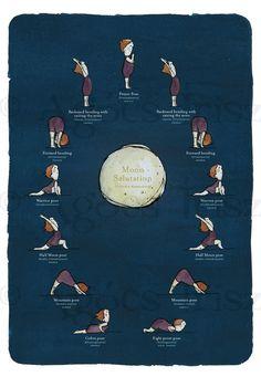 Moon Salutation Poster