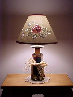 Cut and Pierced Paper Lampshade - love the color added to it