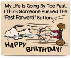 My life is going by too fast. I think someone pushed the 'fast forward' button