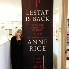 The Vampire Lestat will be back just before Halloween 2014 with a new Anne Rice Vampire Chronicles novel, Prince Lestat.