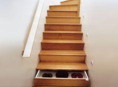 Stair case storage