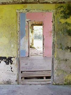 worn pastels, buildi