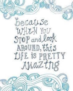 Because when you Stop & Look around , this Life is Pretty AMAZING~~Mary Oliver quote