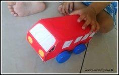Cardboard box bus #craft