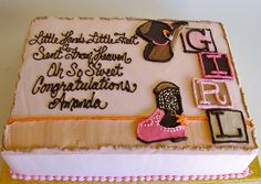 Cowgirl Baby Shower Cake, via Flickr.