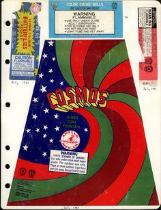 fireworks packaging, 1981