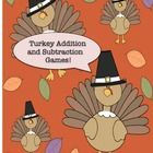 This free product has 2 games, Turkey Addition and Turkey Subtraction! Students move around the turkey game board, choose a turkey card, and review basic facts! Directions included! There are 24 cards for each game with addition and subtraction facts!