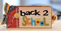 mini scrapbook albums, bag mini, mini album, paper bags, back 2 school, mini scrapbooks, bag album, back to school, school mini