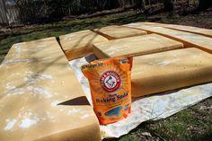 How to clean foam camper cushions