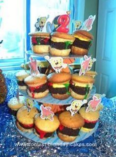 Homemade Krabby Patty Cupcakes: These Krabby Patty Cupcakes were so ...