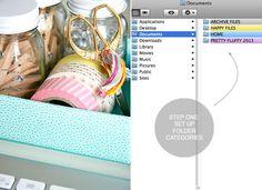 IHeart Organizing: UHeart Organizing: A Pretty Organized Desktop