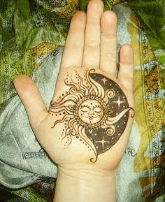 Sun and moon tattoo.