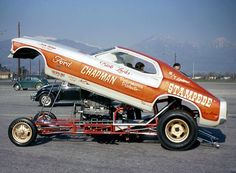 Vintage Drag Racing funny Car