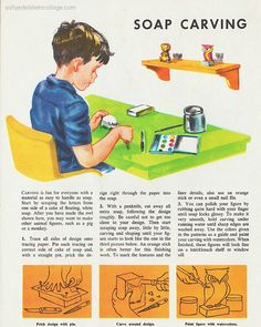 Soap carving #vintage #child #crafts #1950s