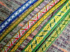 Hibernaatiopesäke: Hallstatt bands. First version were too thick so I made them again with thinner yarn.
