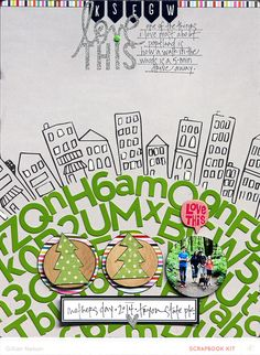 #papercraft #scrapbook #layout.  love this by just