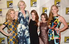 Natalie Dormer, Rose Leslie, Maisie Williams, Gwendoline Christie and Sophie Turner of Game of Thrones  at San Diego Comic Con 2014