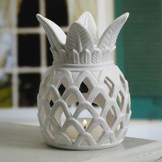 pineapples, pineappl tealight, porcelain pineappl, sons, candle holders, candles, tealight candl, candl holder, son porcelain