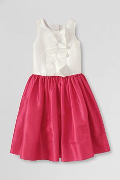 Girls' Sleeveless Shantung Dress from Lands' End