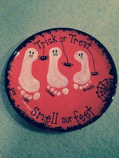 Halloween keepsake - try on paper plate?
