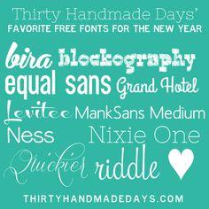 More Unique Fonts for your Paper DIY
