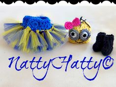 Despicable Me  For Girl  Crochet Hat,boots and  tutu Diaper Cover and bow, Minion Halloween costume, Despicable me minion baby costume on Etsy, $33.99