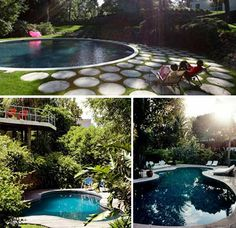 I kind of like the big round pool and the bottom left one
