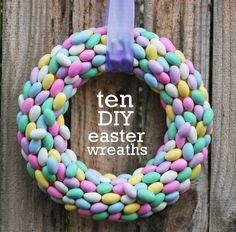 10 DIY Easter Wreaths | Spoonful