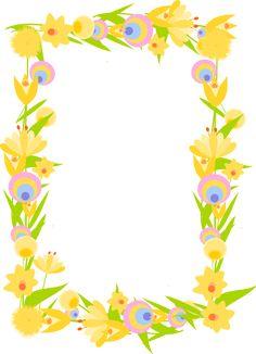 FREE #¯digital floral #frame png with transparent background