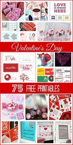 valentines day free printables #valentinesday #printables