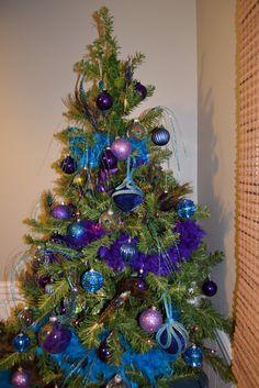 Blue and Peacock Christmas tree