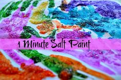 S is for salt painting - art activities with salt watercolor paintings, painting art, food coloring, paints, epsom salt painting, blog, salts, art activities, kid