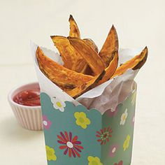 Sweet Potato Steak Fries | MyRecipes.com #myplate #vegetable