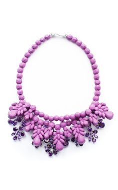 Purple Anna Necklace by Ek Thongprasert X Natasha Goldenberg for Preorder on Moda Operandi
