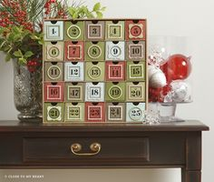 My Creations® Cubby helps you create home decor items like this winter advent calendar! #CTMH